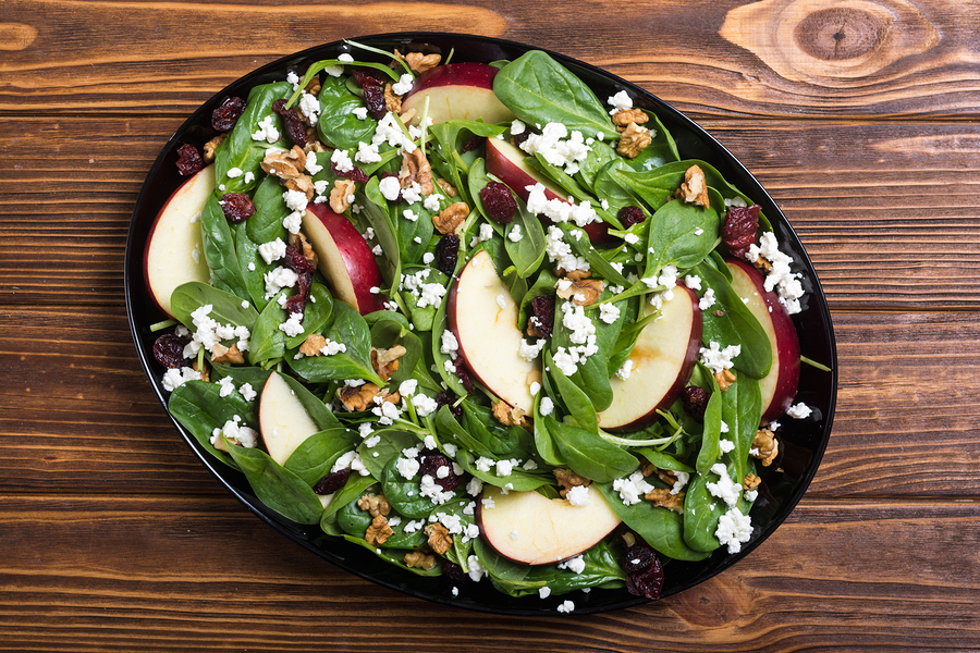 Organic Spinach & Cranberry Salad