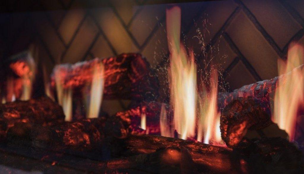 dinning room fireplace