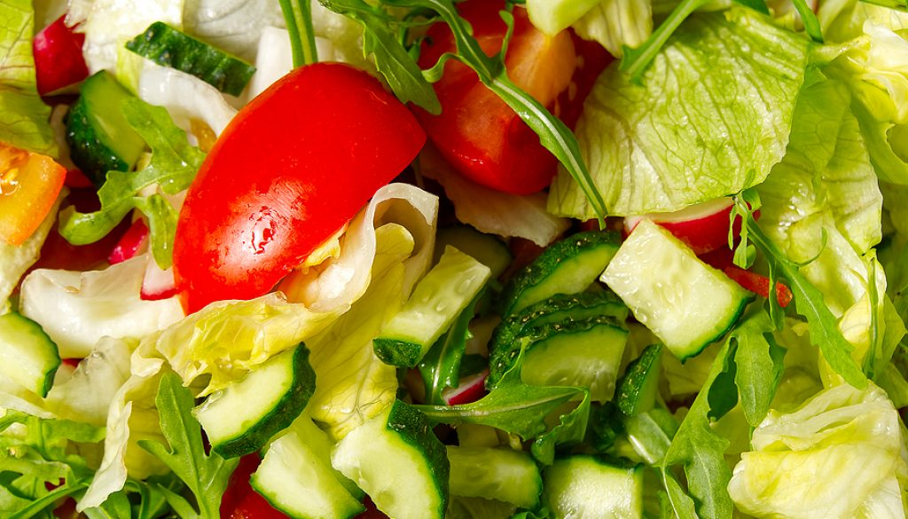 Vegetarian Vegetable Salad. Summer Vitamin Salad. Homemade Salad